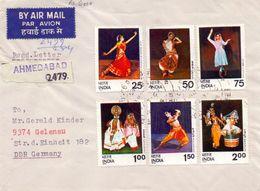 Indien Mi. 646-651 Auf Brief Gest. - Ansehen!! - India