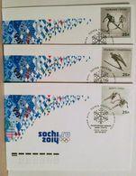 Russia 2011. Winter Olympic Sports. FDC Set. Sochi Postmark - 1992-.... Fédération