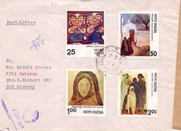 Indien Mi. 755-758 Auf Brief Gest. - Ansehen!! - India