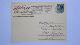 TRIESTE A AMG.FTT AMG-FTT AMMINISTRAZIONE AMERICANA INTERO POSTALE 8 FIERA MEDITERRANEO TERRITORIO LIBERO TLT - Storia Postale