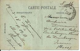 Zichtkaart Montpellier Verstuurd Via LP4 Naar Coudekerque-Branche - Oorlog 14-18