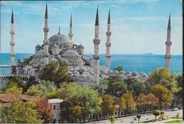 TURCHIA - ISTAMBUL - LA MOSCHEA BLU -VIAGGIATA FRANCOBOLLO ASPORTATO - Turchia