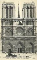 """440-""""PARIS NOTRE DAME"""" CART. ORIG ANIMATA CON CARROZZA E CARRI TRAINATI DA CAVALLI NON SPED. - Notre Dame De Paris"""