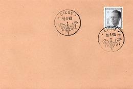 Roi Baudouin 1993  :tampon Liege  18 8 93 - Belgio