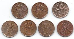 Belgique Lot De 7 Pièces De 20 Centimes 1953 (2x), 1954, 1957 (2x), 1958, 1963 - 01. 20 Centimes