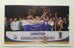 Slovenia Basketball Cards  Stickers Nr. 85 Basketball Club KRKA Novo Mesto Champion EUROCHALLENGE 2011 - Stickers