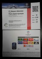 SOCCER Football Ticket UEFA Champions League FC Bayern Munchen - Paris Saint Germain 5.12.2017 Allianz Arena - Match Tickets