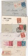 LOT De VINGT Courriers Adressés Aux Etablissements SAURION à Cognac ( Voir 5 Scans) - Curiosités: 1900-20 Lettres & Documents