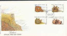 Britische Gebiete In Der Antarktis  - Mi.Nr. 152 - 155  FDC     Flechten - FDC