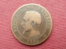 FRANCE Monnaie De 10 Cts 1854 Visite De LILLE - Commémoratives