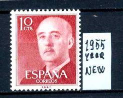 SPAGNA - Generale FRANCO - Year 1955 - Nuovo - New - Fraiche - Frisch -MNH **. - 1931-Oggi: 2. Rep. - ... Juan Carlos I