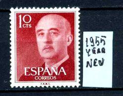 SPAGNA - Generale FRANCO - Year 1955 - Nuovo - New - Fraiche - Frisch -MLH *. - 1931-Oggi: 2. Rep. - ... Juan Carlos I