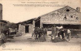 ALES (ALAIS) UNE FABRIQUE DE MOTTES AU FAUBOURG DE ROCHEBELLE  (CARTE PRECURSEUR) - Alès