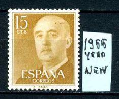 SPAGNA - Generale FRANCO - Year 1955 - Nuovo - New - Fraiche - Frisch - MLH * - 1931-Oggi: 2. Rep. - ... Juan Carlos I