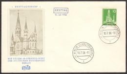 BER SC #9N126 1956 Kaiser Wilhelm Memorial Church FDC 07-10-1956 - FDC: Covers