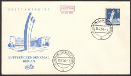 BER SC #9N127 1956 Airlift Memorial FDC 07-10-1956 - FDC: Covers