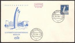 BER SC #9N127 1956 Airlift Memorial FDC 07-10-1956 - [5] Berlin
