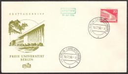 BER SC #9N128 1956 Free University FDC 07-10-1956 - [5] Berlin