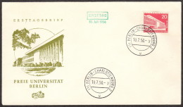 BER SC #9N128 1956 Free University FDC 07-10-1956 - FDC: Covers