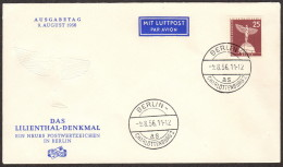 BER SC #9N129 1956 Lilienthal Monument FDC 08-09-1956 - [5] Berlin