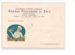 PA347 SICILIA PALERMO Pubblicitaria PENSABENE Conserve Alimentari Partinico 1940 Viaggiata In Busta - Palermo