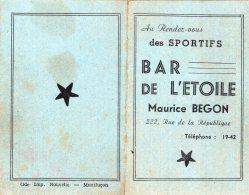 B47806 Calendrier De Poche  Montluçon, Bar De L'étoile, Année 1952 - France