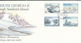 Falklandinseln, S.-Georgien U. D. S.-S.-Inseln  - Mi.Nr. 176 -179  FDC  Gletscherformationen - Falklandinseln