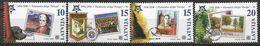 2006 LETTONIE 627-30  ** Cinquantenaire Europa, Timbre Sur Timbre, Fougère, Machine à écrire - Latvia
