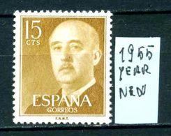 SPAGNA - Generale FRANCO - Year 1955 - Nuovo - New - Fraiche - Frisch - MNH ** - 1931-Oggi: 2. Rep. - ... Juan Carlos I