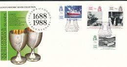 Falklandinseln, S.-Georgien U. D. S.-S.-Inseln  - Mi.Nr. 172 -175  FDC    300 Jahre Lloyds - Falklandinseln