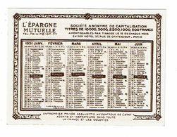 Calendrier 1931 L EPARGNE MUTUELLE épargne Dotale Nuptialité Natalité - Kalenders