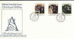 Falklandinseln, S.-Georgien U. D. S.-S.-Inseln  - Mi.Nr. 147 .149  FDC Hochzeit Von Prinz Andrew Und Sarah Ferguson - Falklandinseln
