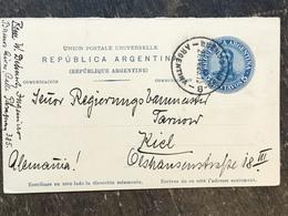 E19 Argentinien Argentina Argentine Ganzsache Stationery Entier Postal Psc Karte Von Buenos Aires Nach Kiel - Postal Stationery