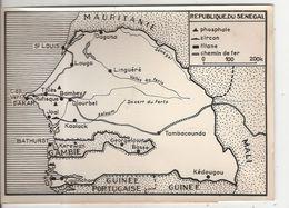 Photo Photographie Afrique Occidentale Française Carte La Mauritanie Mali Sénégal République Soudanaise 1962 - Lieux