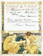 Télégramme En Couleur De 1933 De La Régie Des Télégraphes  & Téléphones De Belgique - Félicitation Pour Un Mariage (T24) - Mariage