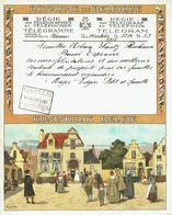 Télégramme En Couleur De 1933 De La Régie Des Télégraphes  & Téléphones De Belgique - Félicitation Pour Un Mariage (T44) - Mariage