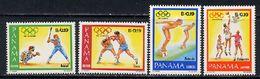 Panama 1984 Olympic Games Los Angeles, Basketball, Baseball Etc. Set Of 4 MNH - Summer 1984: Los Angeles