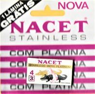 RAZOR BLADES - NACET STAINLESS - DISTRIBUTOR OF 4 BLADES OF RAZOR UNDER BLISTER (PORTUGAL) - Razor Blades