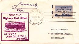 """Brief Von """"Altoona & Oil City, PA., H.P.O."""" In Die Schweiz (br2738) - Lettres & Documents"""