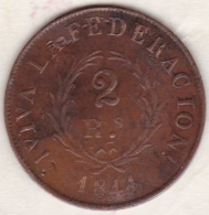 ARGENTINE. BUENOS AIRES. 2 REALES 1844. Copper .KM# 8 - Argentina