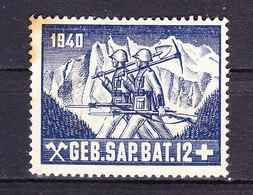 Soldatenmarke, Geb. Sap. Bat. 12, 1940, Ungebraucht (45857) - Vignettes