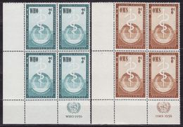UN New York 1956 Mi 49-50,incription Block Of 4, MNH** VF - New York - Sede De La Organización De Las NU