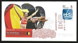 China Olympic Games 2008  Goldmedal Winner Tia Hellebaut On Special Cover.Woman High Jump - Summer 2008: Beijing