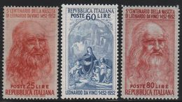 1952 Francobolli Repubblica Leonardo MNH - 6. 1946-.. Repubblica