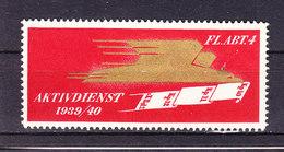 Soldatenmarke, Aktivdienst 1939/40, Fl. Abt. 4, Ungebraucht (45859) - Vignettes