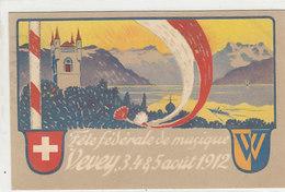 Vevey - Fête Fédérale De Musique - Carte Tombola - 1912       (P-107-60126) - VD Vaud