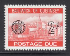Guernsey 1977-80 MNH Scott #J20 2p Town Church, St. Peter's Port - Guernesey