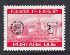 Guernsey 1977-80 MNH Scott #J21 3p Town Church, St. Peter's Port - Guernesey