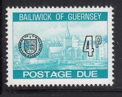 Guernsey 1977-80 MNH Scott #J22 4p Town Church, St. Peter's Port - Guernesey