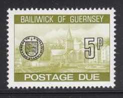 Guernsey 1977-80 MNH Scott #J23 5p Town Church, St. Peter's Port - Guernesey